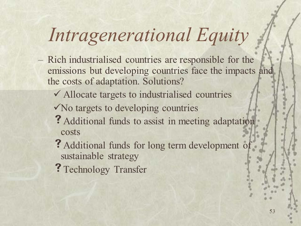 Intragenerational Equity