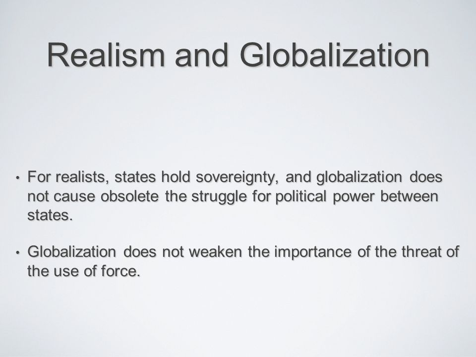 globalization and threat to national sovereignty Zakaria: clinton a 'centrist' and 'moderate' globalization's threat to national sovereignty can't be stopped by robert kraychik february 28, 2016.