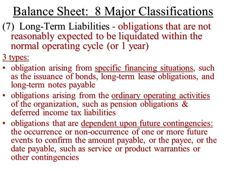 elements of the balance sheet
