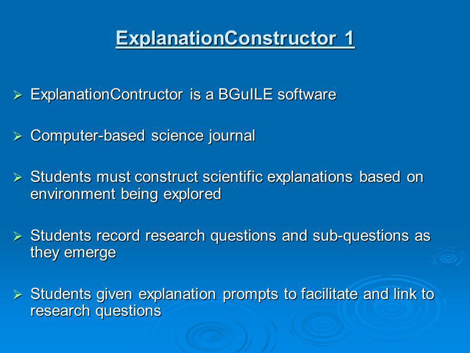 ExplanationConstructor 1