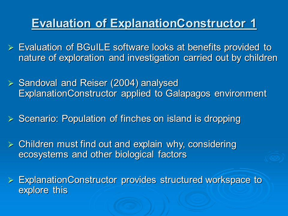Evaluation of ExplanationConstructor 1