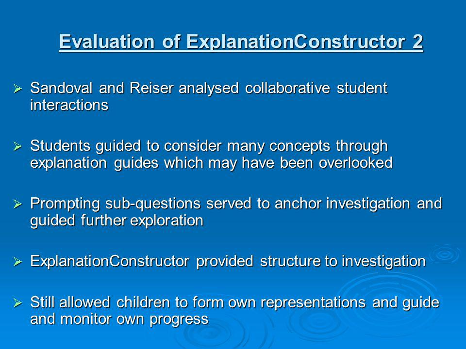 Evaluation of ExplanationConstructor 2