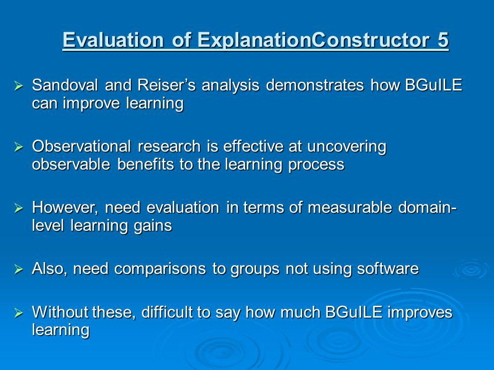 Evaluation of ExplanationConstructor 5
