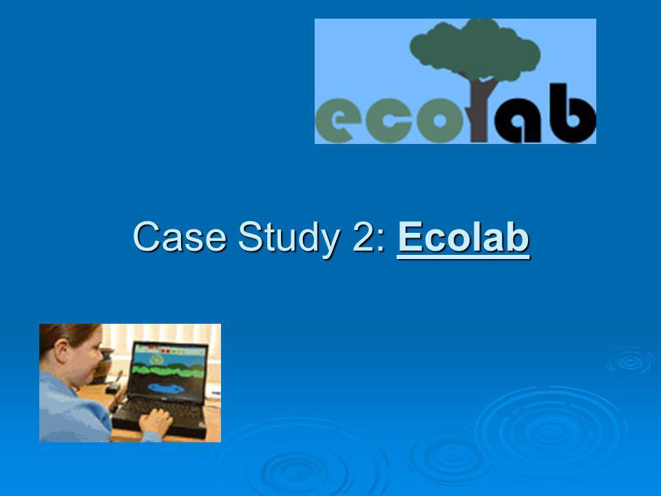Case Study 2: Ecolab Our second case study is Ecolab