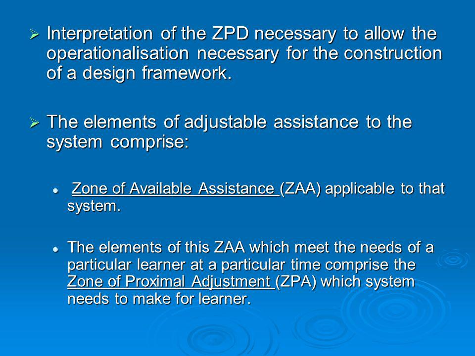 The elements of adjustable assistance to the system comprise: