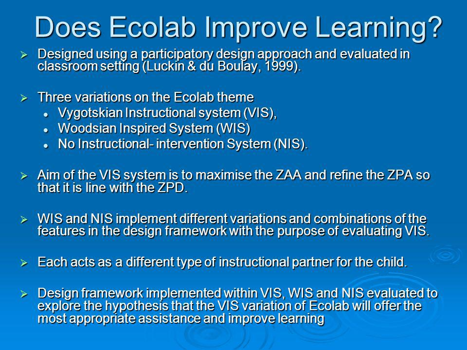 Does Ecolab Improve Learning