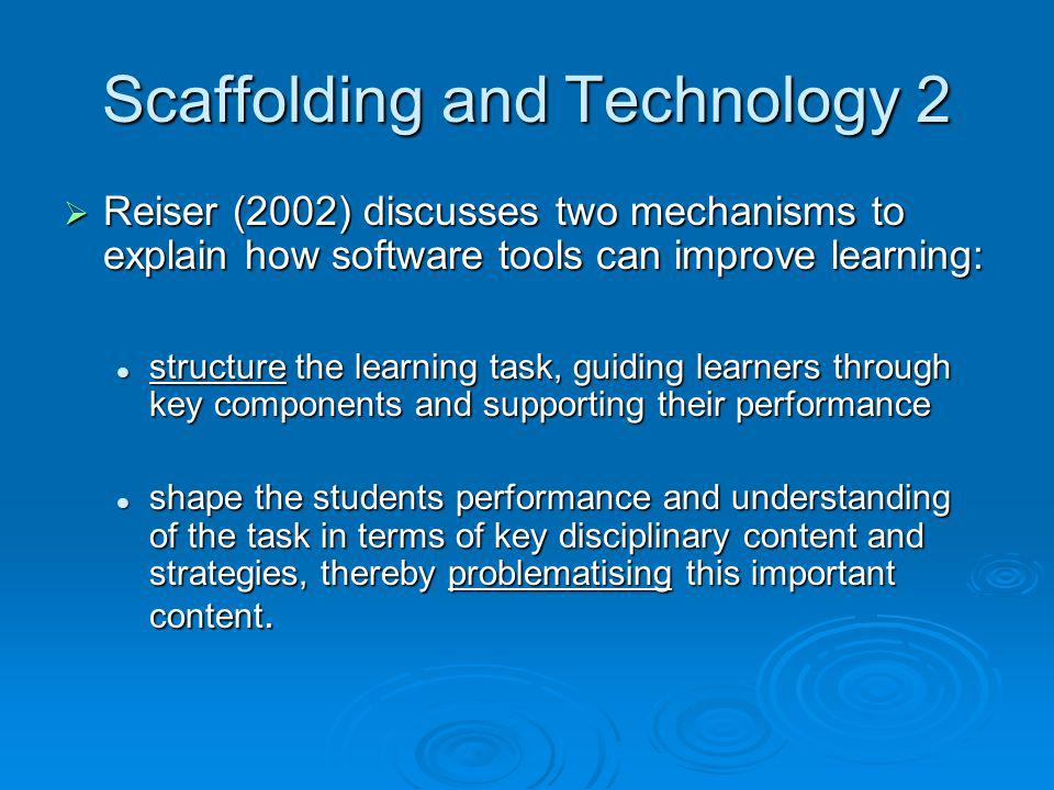 Scaffolding and Technology 2