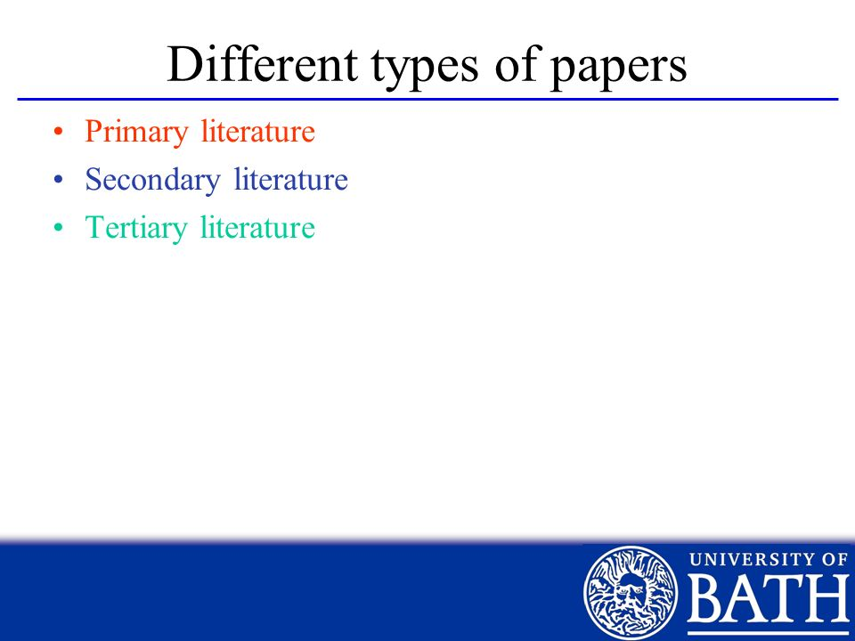 Different types of papers