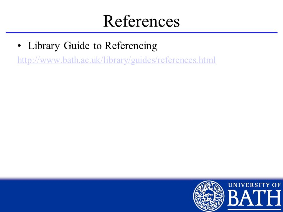 References Library Guide to Referencing