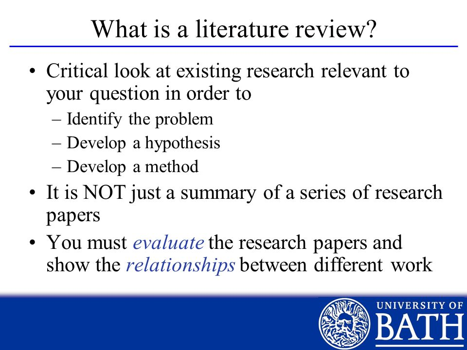 What is a literature review