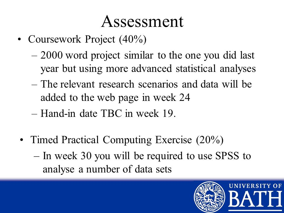 Assessment Coursework Project (40%)