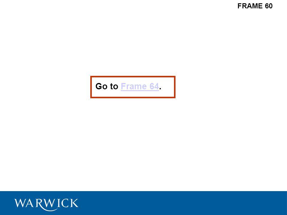 FRAME 60 Go to Frame 64.