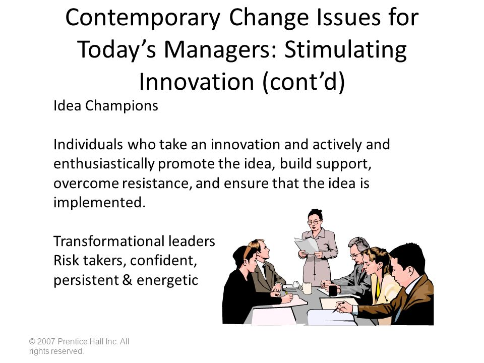 contemporary concepts of innovation and organisation changes Clinical leadership and innovation david john stanley university of western australia,  needs to be clearly understood, clinical leaders need to be recognized, by their organizations and by themselves, and  clinical change and innovation in practice can be facilitated.