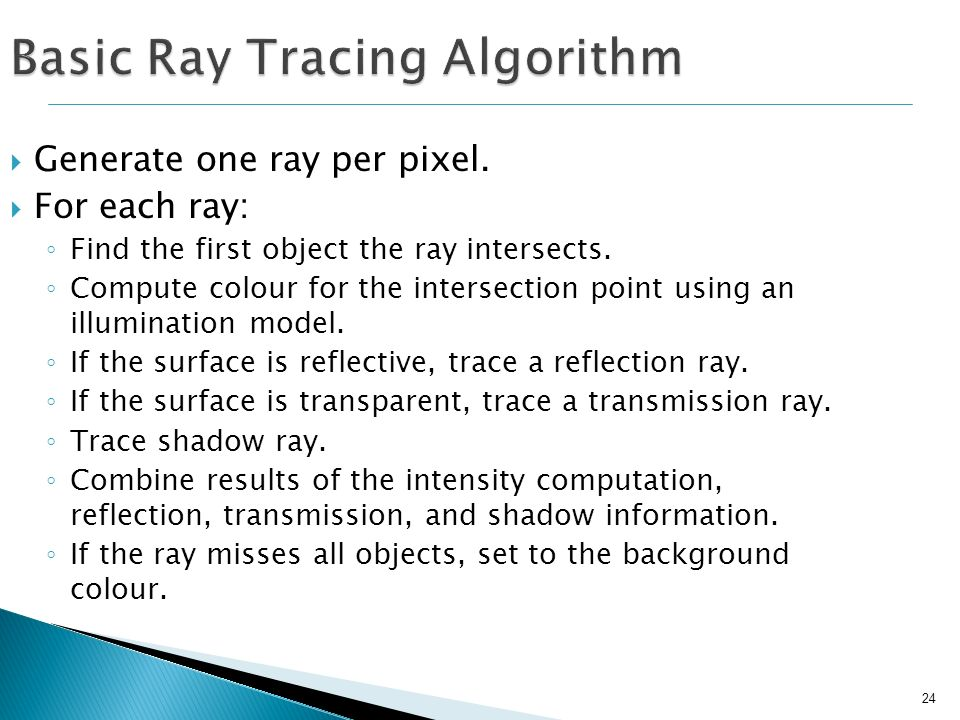 Basic Ray Tracing Algorithm