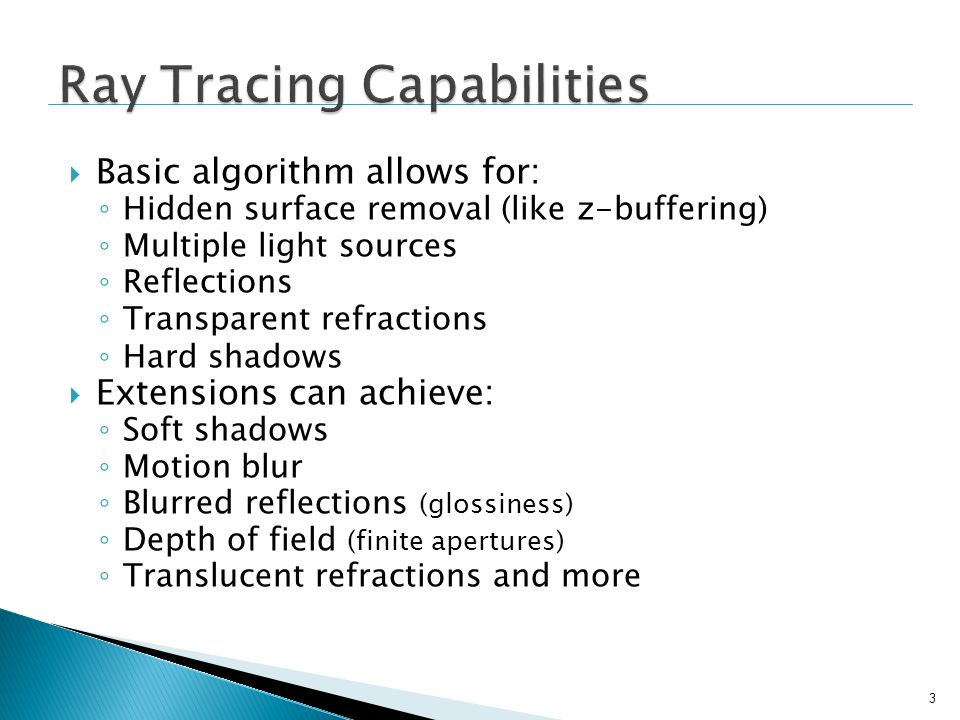 Ray Tracing Capabilities