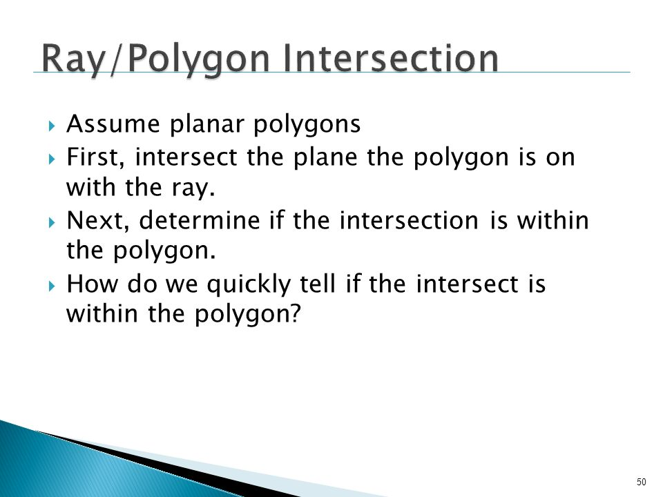 Ray/Polygon Intersection