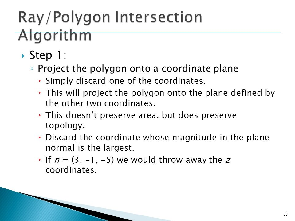 Ray/Polygon Intersection Algorithm