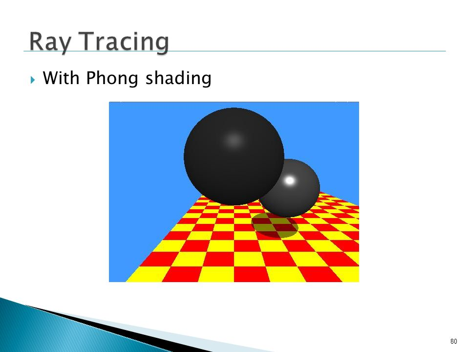 Ray Tracing With Phong shading