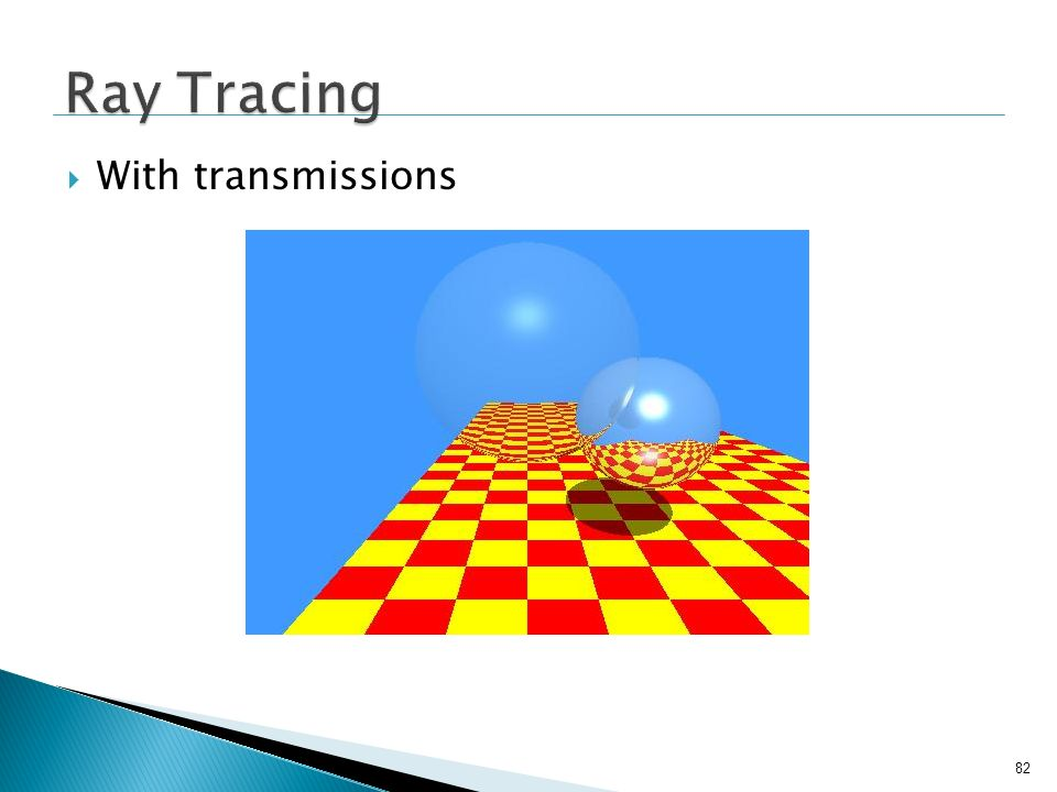 Ray Tracing With transmissions