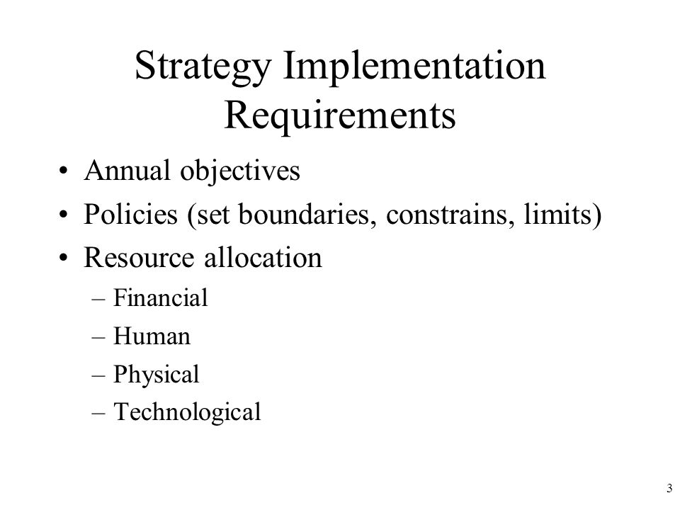 resource requirements for implementation of new strategy Many organizations are consolidating their data resources and application and data requirements and an implementation strategy for new ideas are introduced.