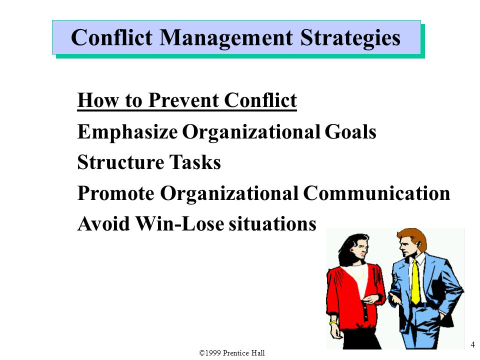 conflict management strategies What is conflict resolution the art of conflict management can be the key to professional growth it all starts with our five-step conflict resolution process.