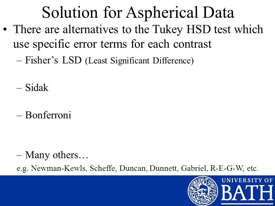 Solution for Aspherical Data