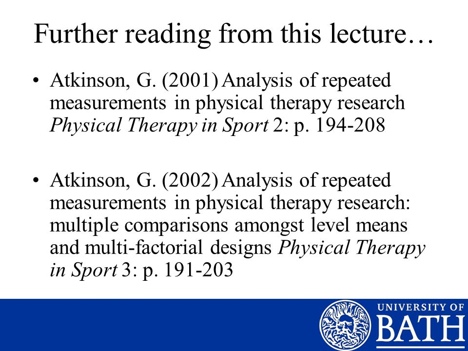 Further reading from this lecture…