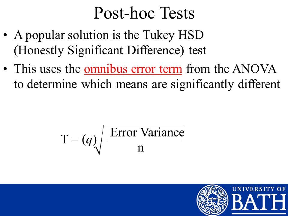 post hoc test