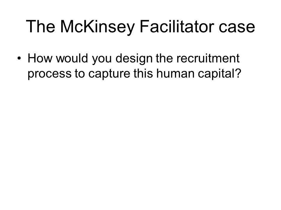 The McKinsey Facilitator case
