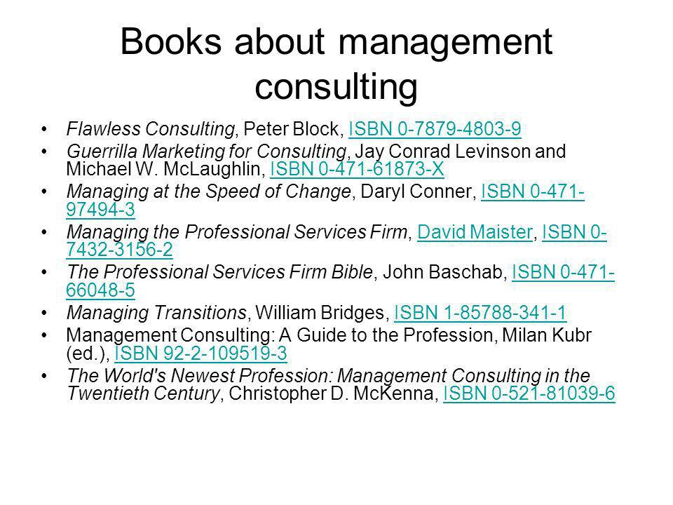 Books about management consulting