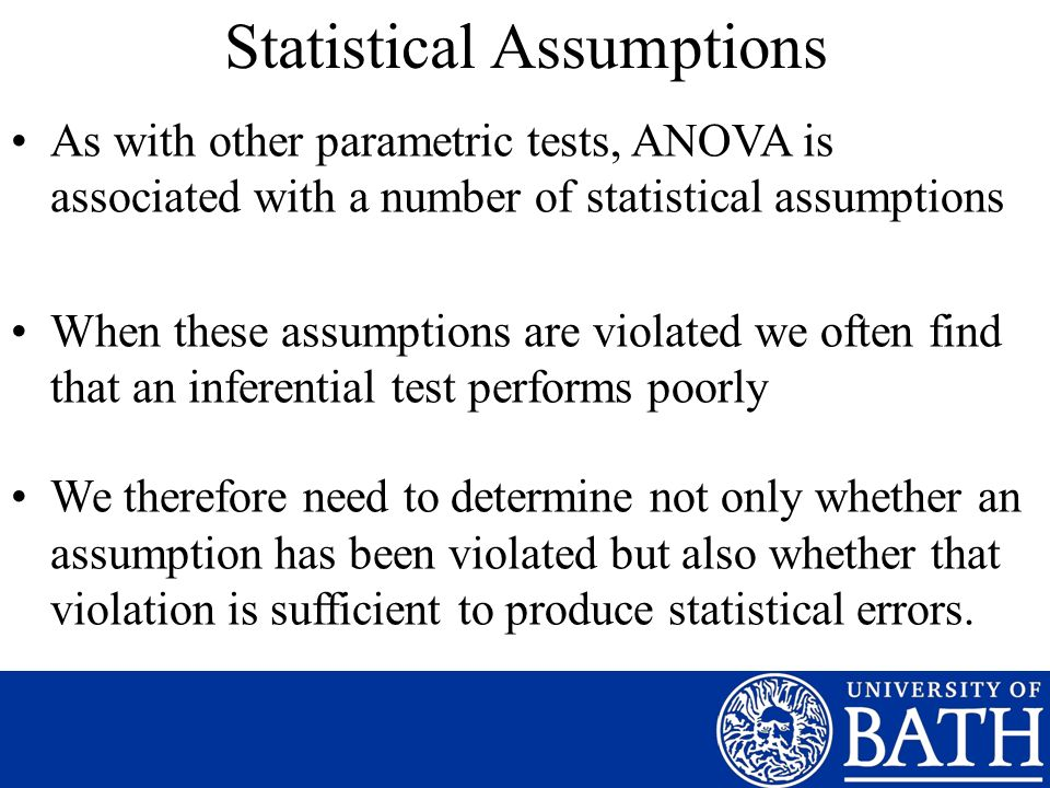 Statistical Assumptions