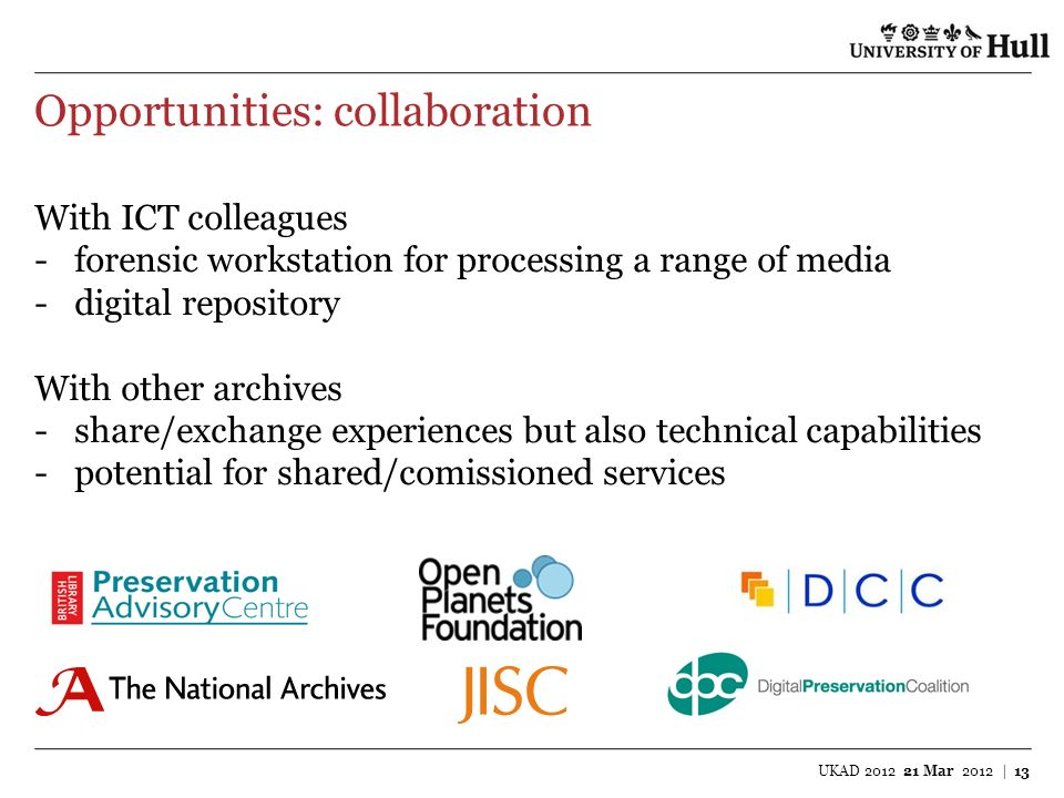 Opportunities: collaboration