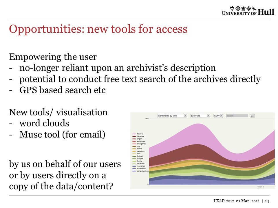 Opportunities: new tools for access