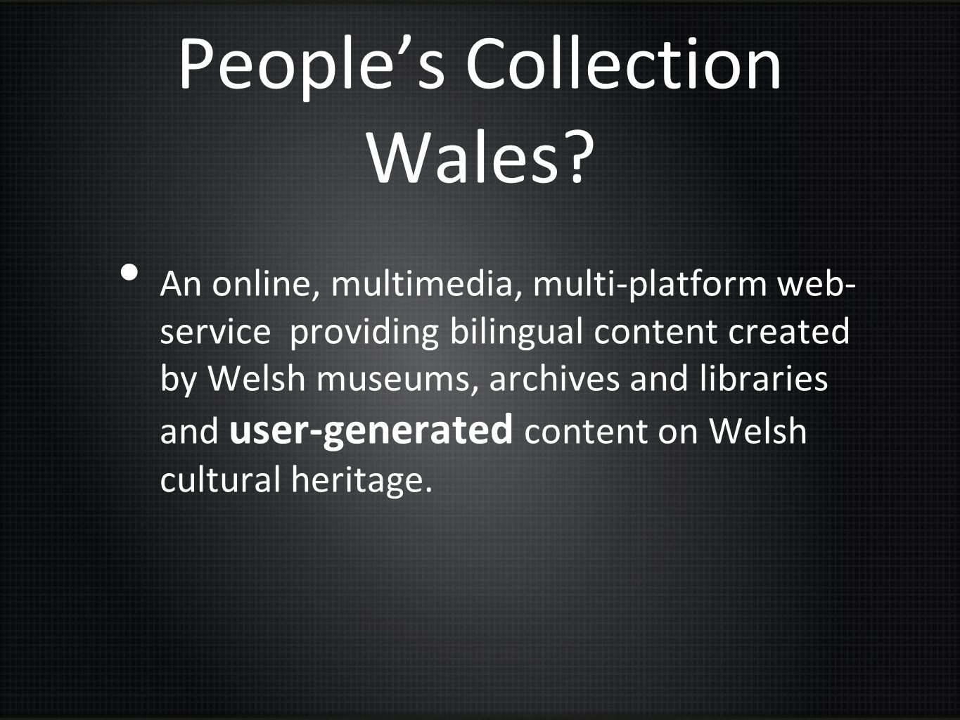 People's Collection Wales