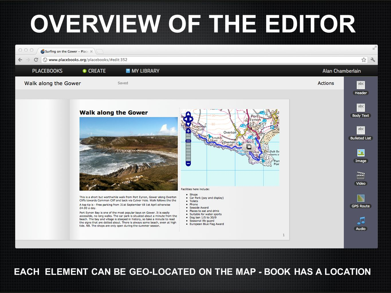 OVERVIEW OF THE EDITOR here's an example of a book that someone made about the Gower.