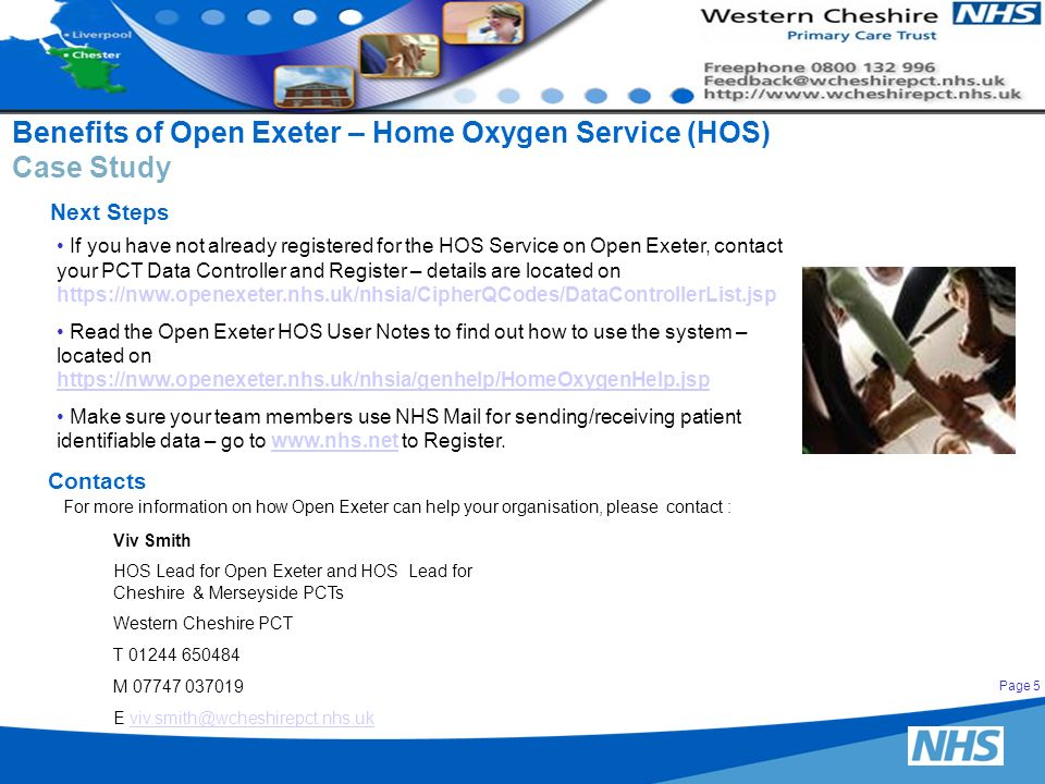 Benefits of Open Exeter – Home Oxygen Service (HOS) Case Study