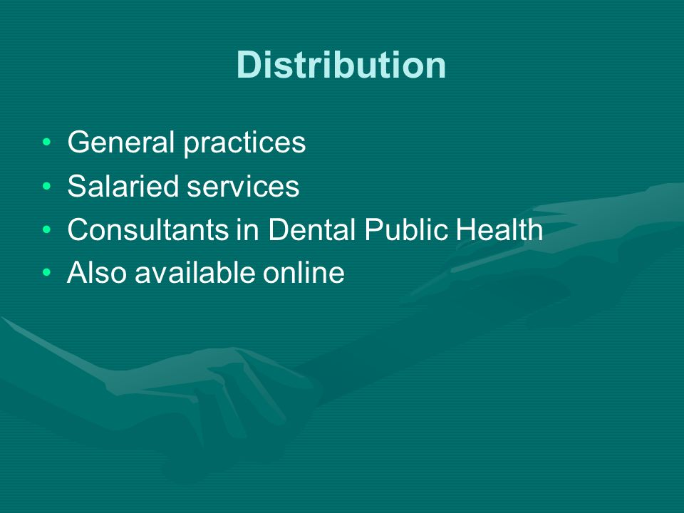 Distribution General practices Salaried services