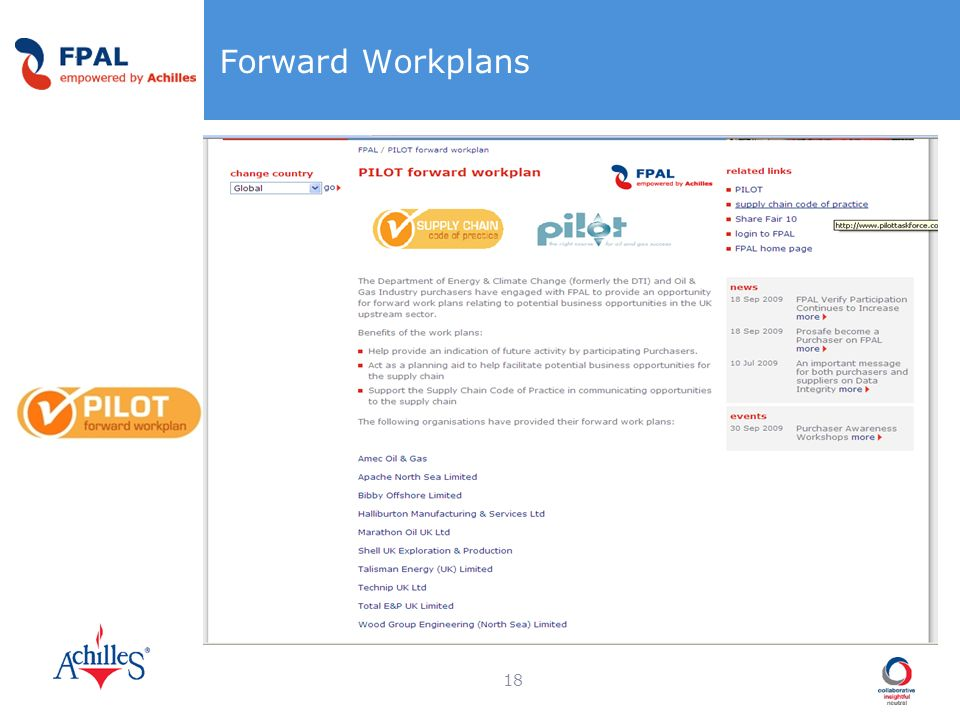 Forward Workplans