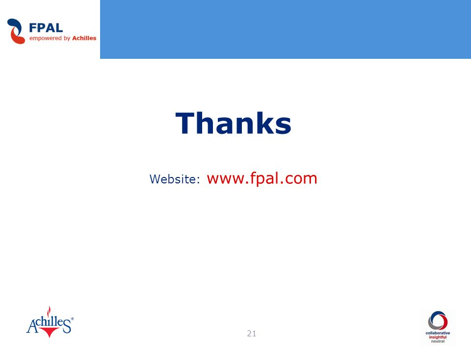 Thanks Website: www.fpal.com