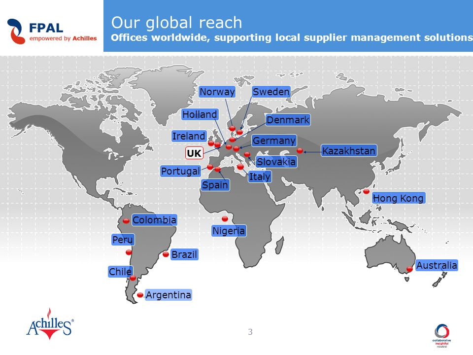 Our global reach Offices worldwide, supporting local supplier management solutions