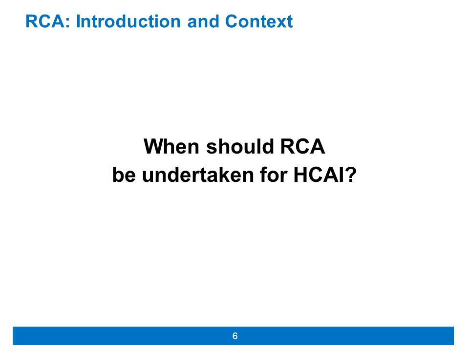 RCA: Introduction and Context