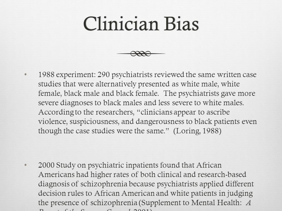 case study schizophrenia treatment The evidence for the efficacy of cbt in treating patients with persistent symptoms of schizophrenia has progressed from case studies, case series, and uncontrolled trials to methodologically rigorous, randomized, controlled trials that include patients from both the acute 4 and the chronic end of the schizophrenia spectrum 5-7 subsequent meta.