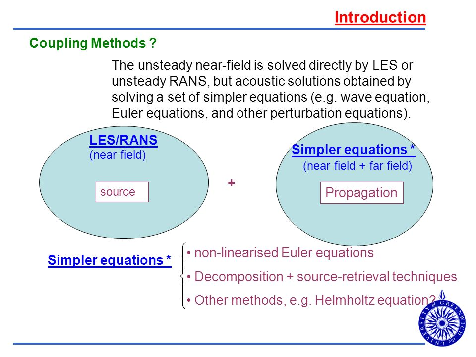 Introduction Coupling Methods
