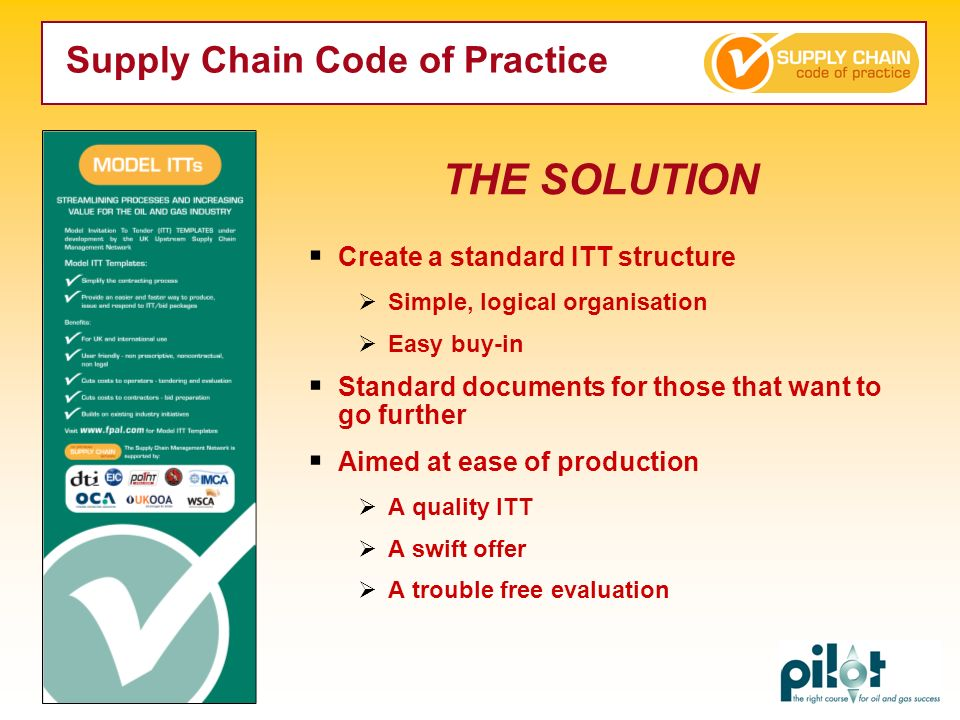THE SOLUTION Supply Chain Code of Practice