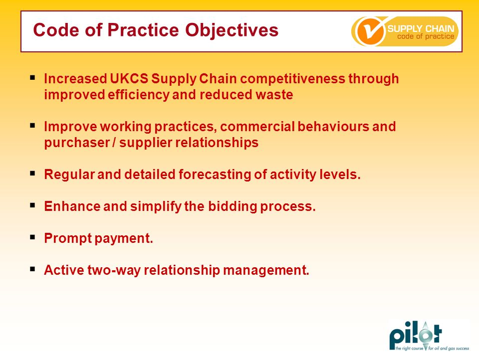 Code of Practice Objectives