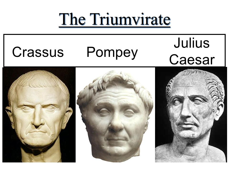 google triumvirate The first triumvirate of ancient rome was an uneasy alliance between the three titans julius caesar, pompey, and crassus which, from 60 bce until 53.