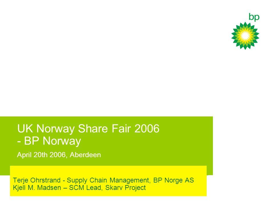UK Norway Share Fair 2006 - BP Norway April 20th 2006, Aberdeen