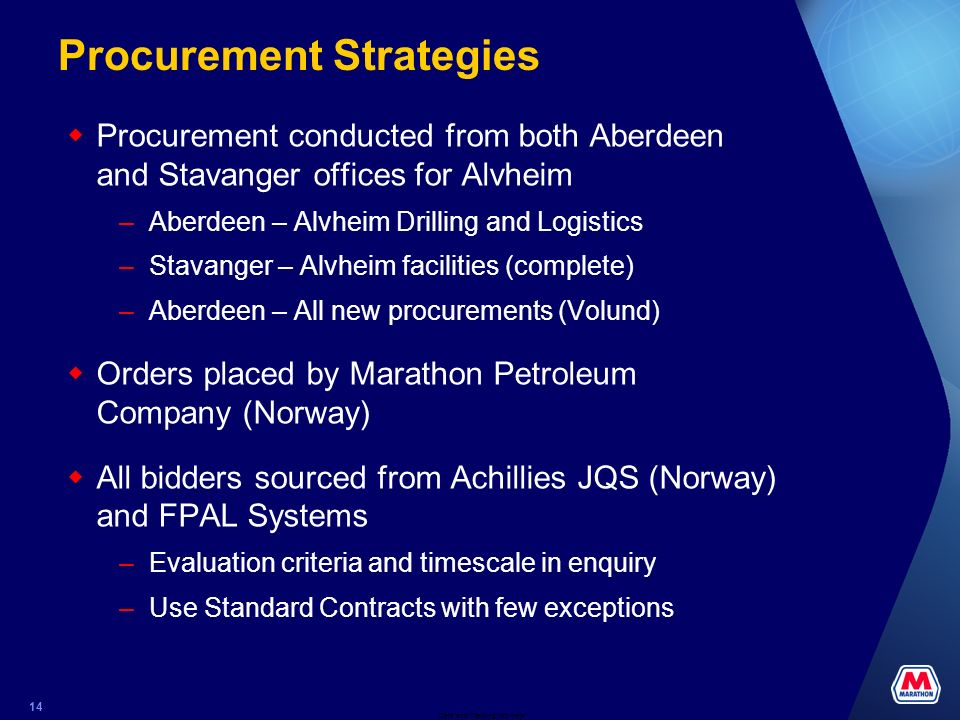 Procurement Strategies