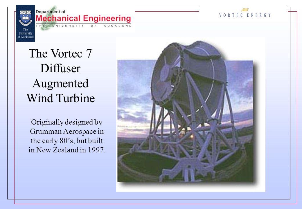The Vortec 7 Diffuser Augmented Wind Turbine