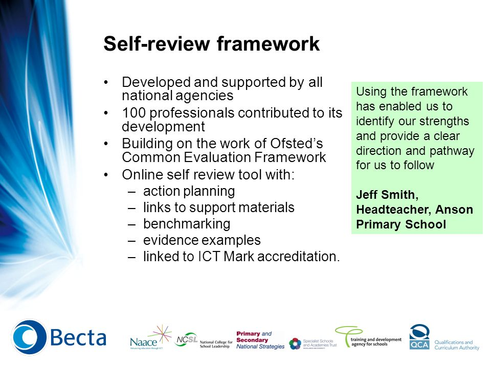 Self-review framework